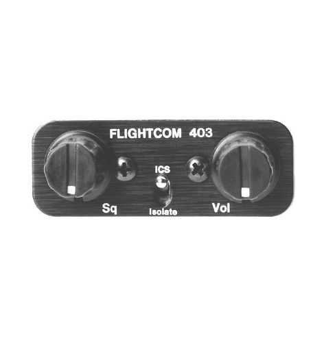 Flightcom Intercom 403 6 Places Stereo Sans Clearance Recorder