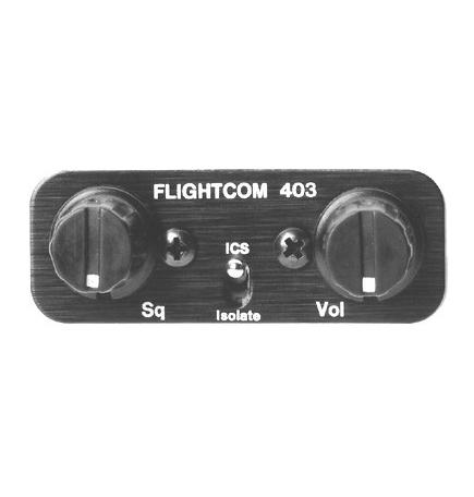 Flightcom Intercom 403 6 Places Stereo Sans Clearance Recorder