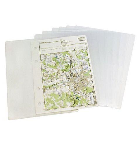 Pochettes plastiques cartes VAC pour planchette de vol (x10)