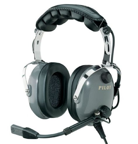 Casque Pilot Communications PA 11-20 : double jack aviation - passif - câble droit