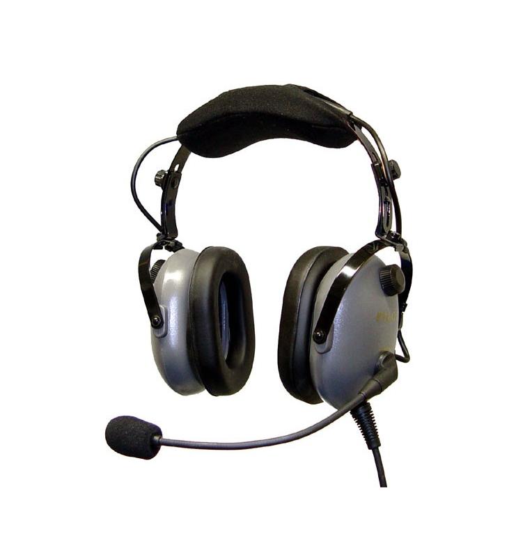 Casque Pilot Communications PA 12-8 S : double jack aviation - mono/stéréo - passif - câble droit