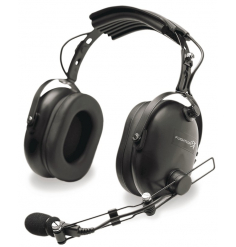 Casque Flightcom 4DX Classic : double jack aviation - passif - câble droit