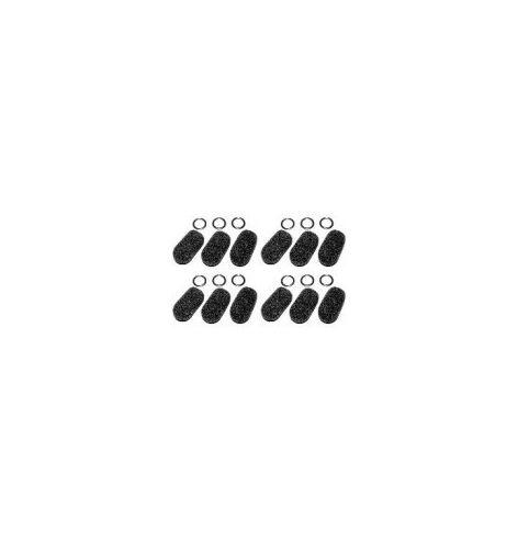 Pack de 12 bonnettes micro avec anneaux (Large) pour 4DX, 4LX, 4DLX, 5DX, Classic ANR et Denali.