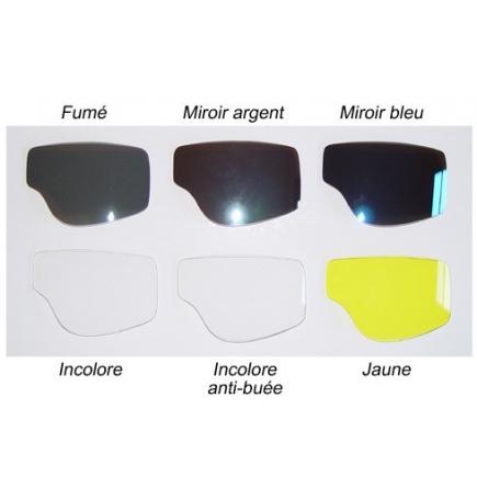 Lunettes Aviator Goggle Cuir blanc avec passages de lunettes de vue