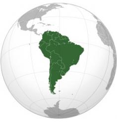 Carte Amérique du sud (Jeppesen + terrestre) + villes Bresil et Argentine