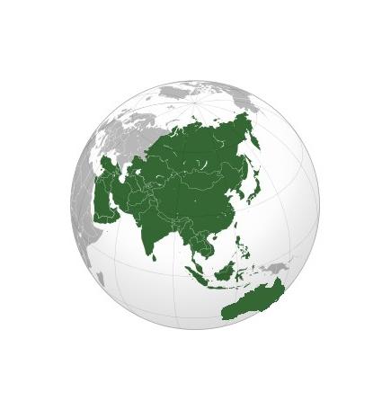Carte Asie et Australie (Jeppesen + terrestre) + villes Malaisie