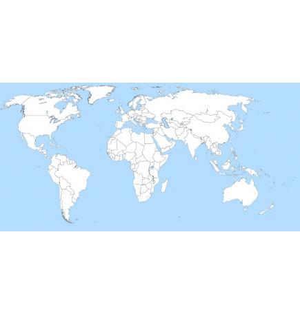 Carte Monde (Jeppesen + terrestre) + villes Malaisie