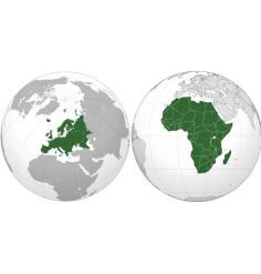 Carte Europe et Afrique (Jeppesen + terrestre) + villes Afrique du sud