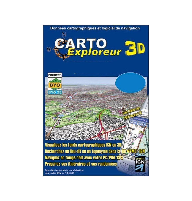 CartoExploreur 3D 1:25 000