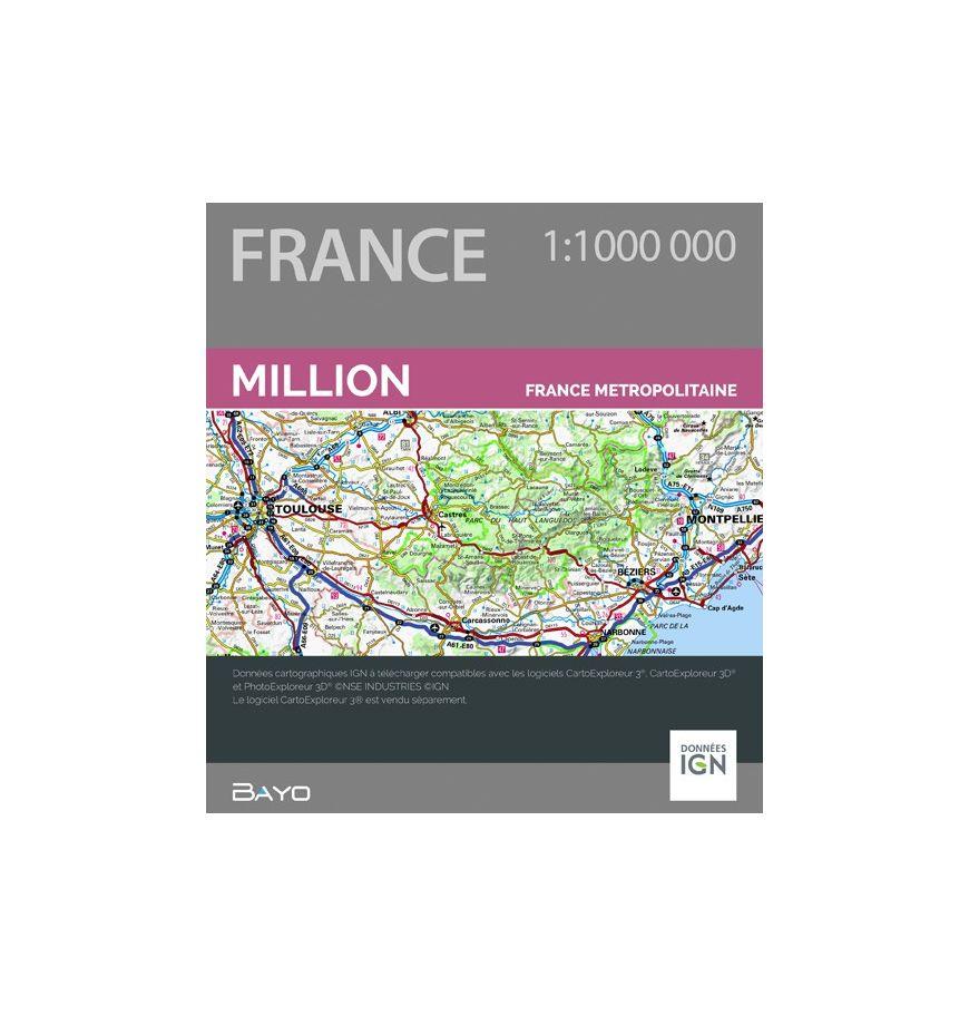 Téléchargement CartoExploreur 1:1 000 000