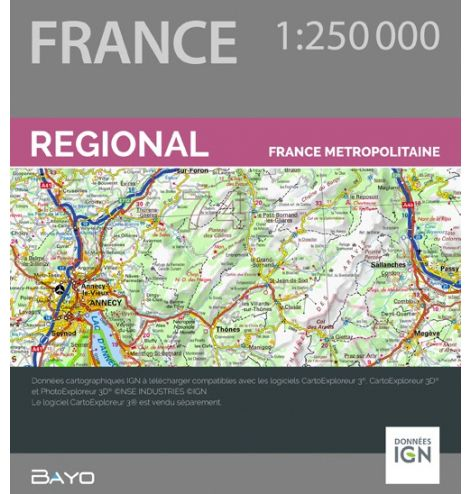 Téléchargement CartoExploreur 1:250 000