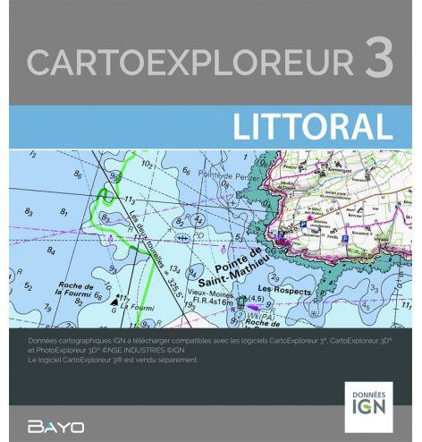 Téléchargement CartoExploreur Littoral 1:25 000