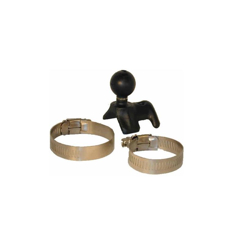 Base Avec Boule Standard B - Fixation Collier Tube De 2 A 8,5 Cm De Diametre