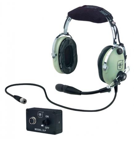 Casque David Clark H10-13 XP : LEMO alimentation tableau de bord - actif ENC technology - câble droit