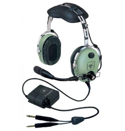 Casque David Clark H10-13 X : double jacks aviation - actif ENC technology - câble droit