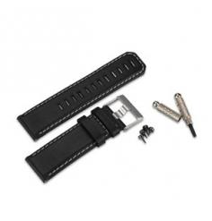 Garmin Bracelet cuir noir D2 Pilot Watch