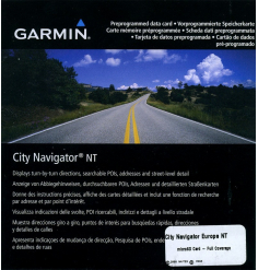 City Navigator Europe NT pour Aera 795 et GPSMAP 695 (cartographie terrestre détaillée)