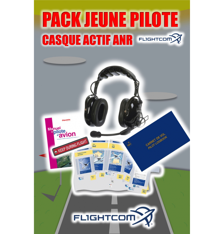 Pack Jeune Pilote Casque Aviation ANR