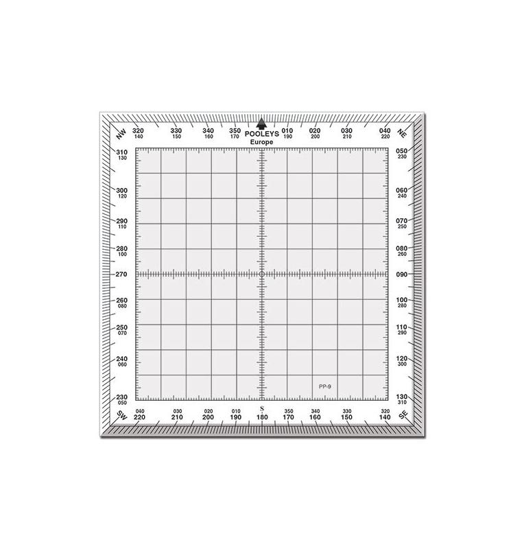 Rapporteur de vol carré standard avec bordures blanches