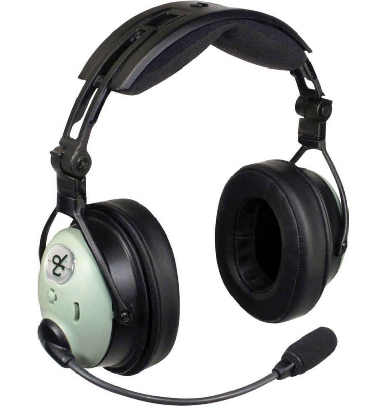 Casque David Clark DC ONE-X : double jacks aviation - actif ENC Hybrid technology - câble droit