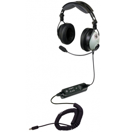 Casque avion David Clark - David Clark DC ONE-X : U174/U Hélicoptère - actif ENC Hybrid technology - cable torsadé