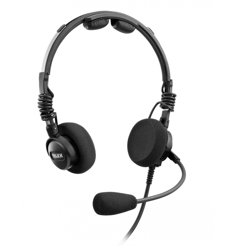 Casque Telex Airman 7 passif ultra-léger double jacks aviation