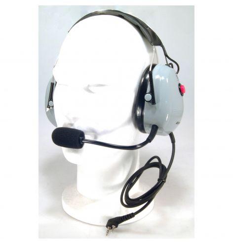 Casque anti-bruit avec PTT pour IC-A6FR/A24FR