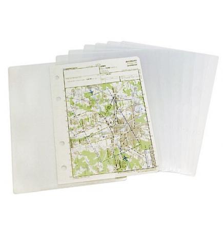 Pochettes plastiques A6 pour planchette de vol (x10)