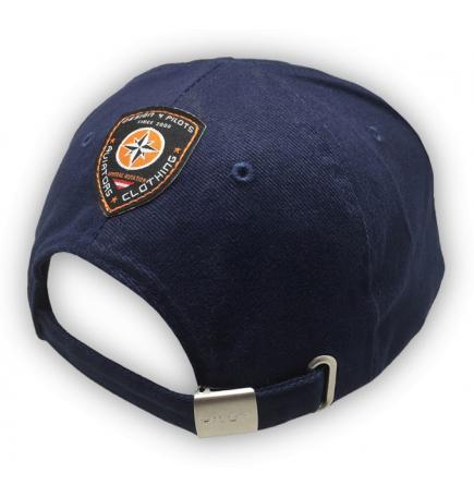 Casquette pilote coton bleue