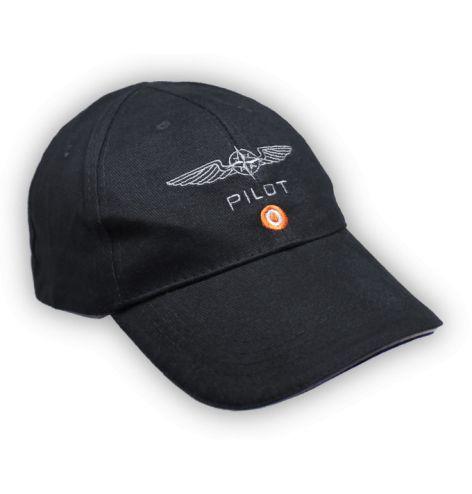 Casquette pilote coton noire