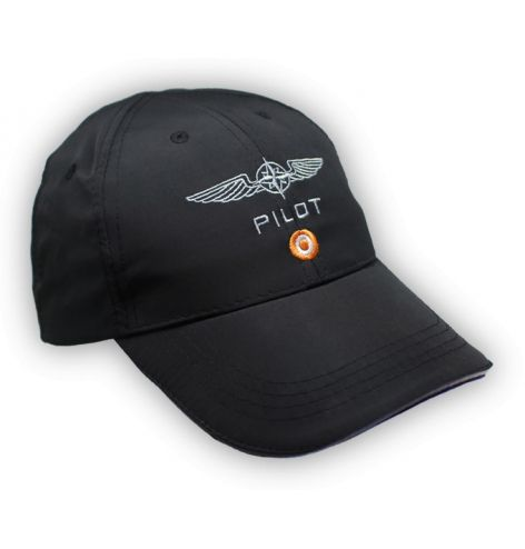 Casquette pilote microfibre noire - DESIGN 4 PILOTS