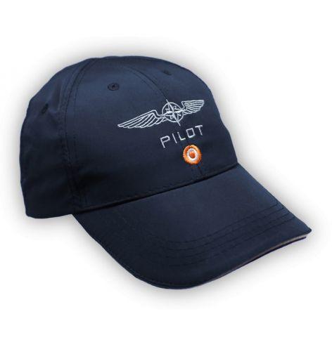 Casquette pilote microfibre bleue