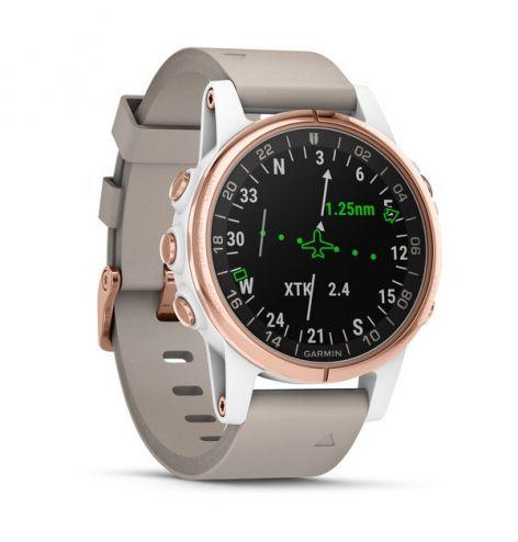 Montre GPS D2™ Delta S - Bracelet 42 mm cuir beige