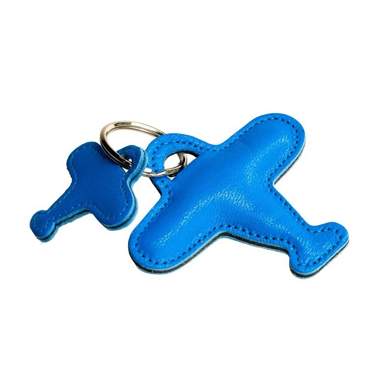 Porte-Clef Double Avion Bleu Azur