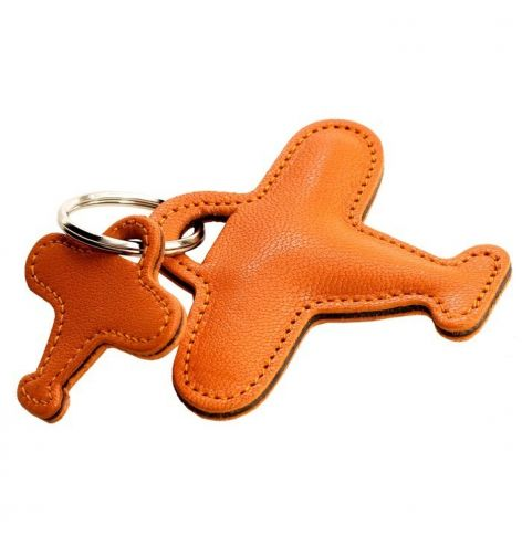 Porte-Clef Double Avion Orange