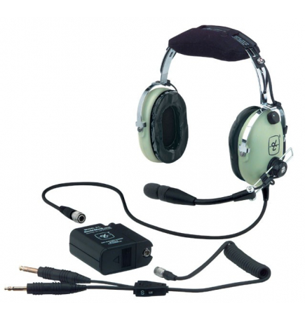 Casque David Clark H10-13 XL : double jacks aviation - actif ENC technology - câble torsadé
