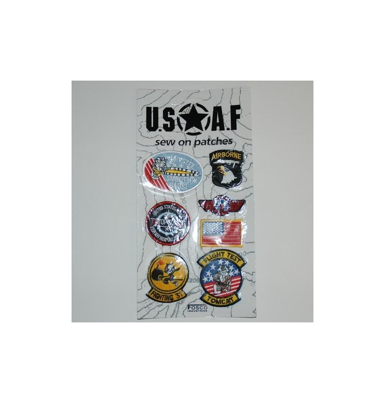 Collection de patchs aviation