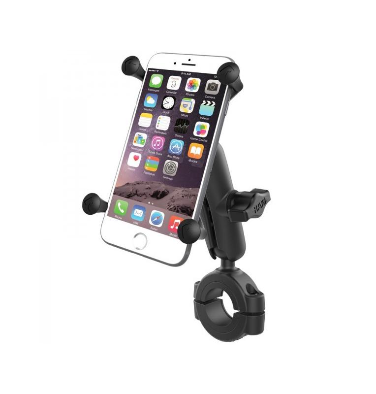 """Support collier diamètre 2,86 à 3,81 cm boule B pour smartphone X-Grip® universel UN10 entre 5 et 6"""""""