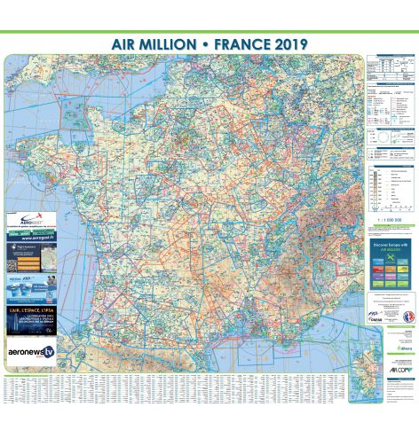 Carte VFR Air Million France murale