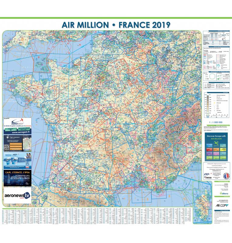Carte VFR Air Million France murale