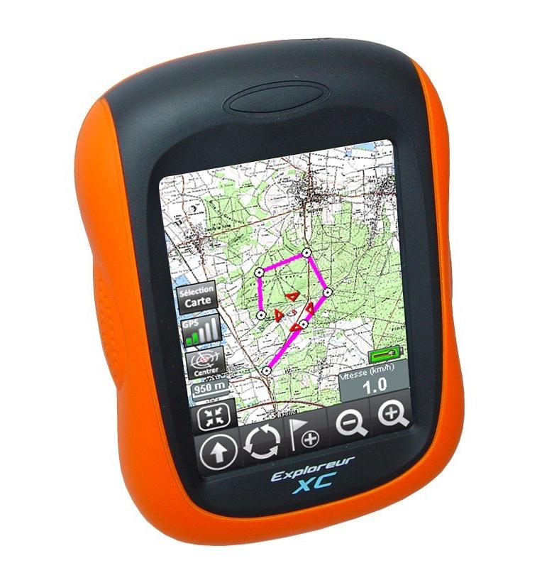 GPS de randonnée Exploreur XC Cartographie IGN France 1:100 000 préchargée et un CD CartoExploreur 3 1:25 000 au choix