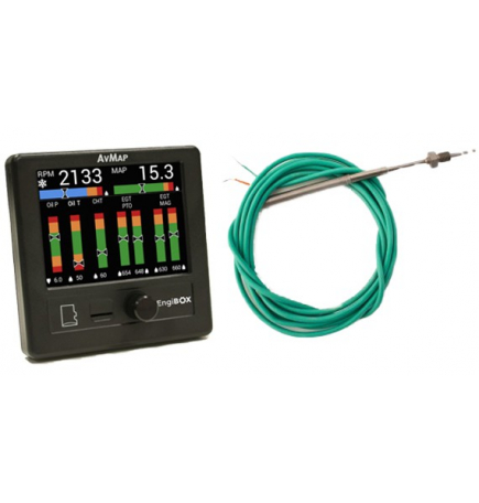 AvMap EngiBOX + 4x EGT probe KIT