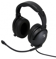 Casque Flightcom D50ANR : double jack aviation - actif ANR - câble droit - sacoche