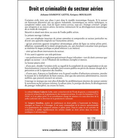 Droit et criminalité du secteur aérien