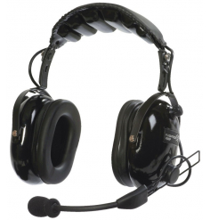 Casque Flightcom V50ANR : double jack aviation - mono/stéréo - actif ANR - câble droit - sacoche