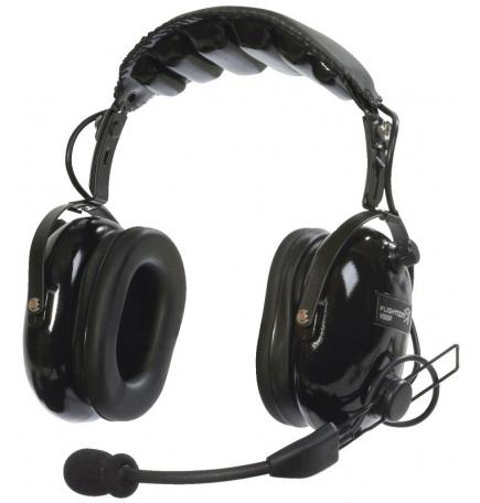 Casque Flightcom V50ANR : double jack aviation - mono/stéréo - actif ANR - câble droit - sacoche