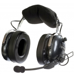 Casque Flightcom V90ANR : double jack aviation - actif ANR - câble droit - sacoche