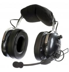 Casque Flightcom V90SP : double jack aviation - mono/stéréo - passif - câble droit - sacoche