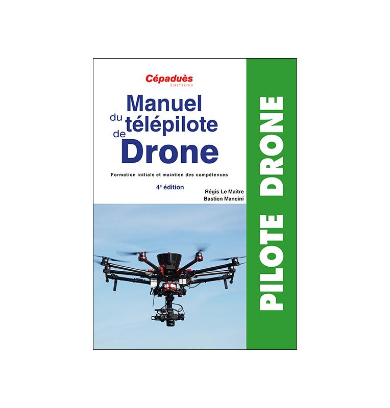 recto pour le manuel de télépilote de drone