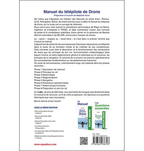 verso pour le manuel du télépilote de drone